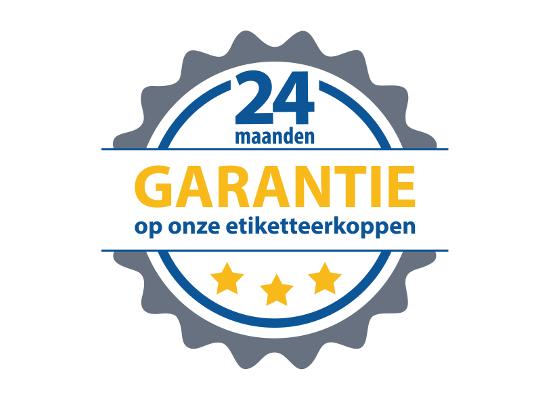 24 maanden garantie op Etipack etiketteermachines